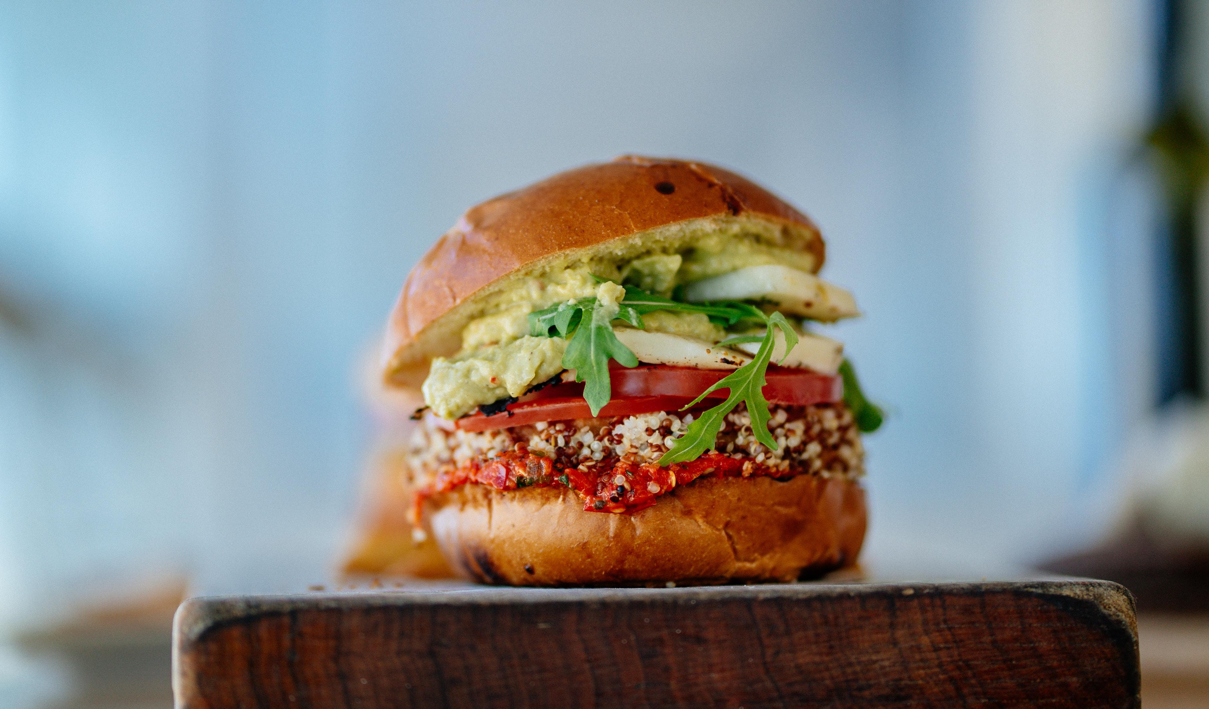 vegan veggie burger protein
