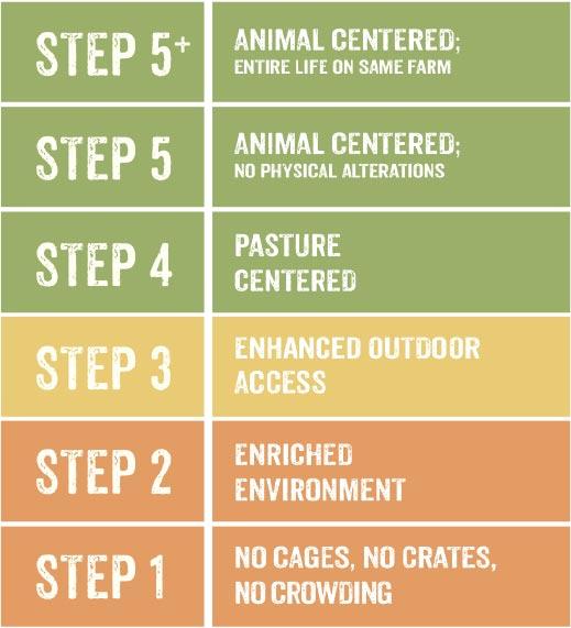 Level 5 certification animal welfare chart