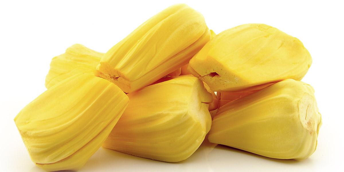 peeled jackfruit pieces