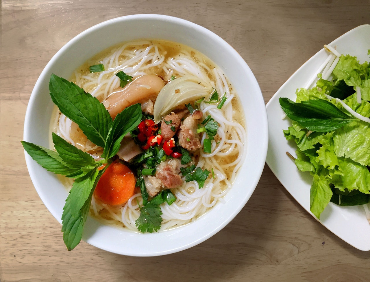 rice noodle soup gluten free eating out