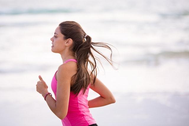 girl running going keto for health