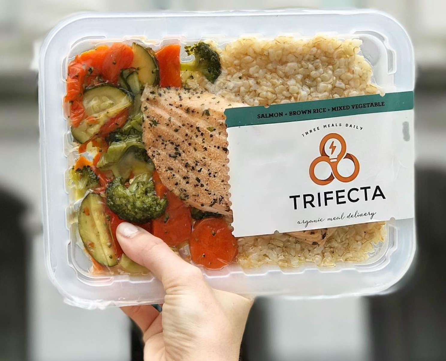 trifecta healthy meal delivery salmon brown rice