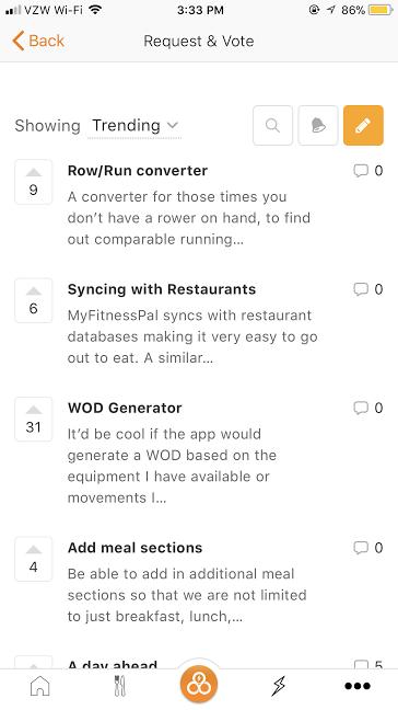 Trifecta App Request Features
