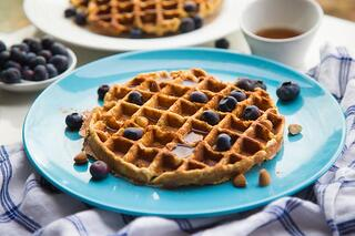 Maple Cinnamon Sweet Potato Waffles