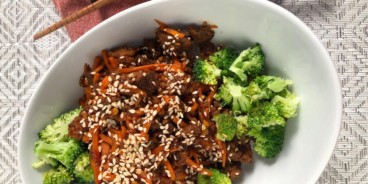20 minute Thai Beef Bowl