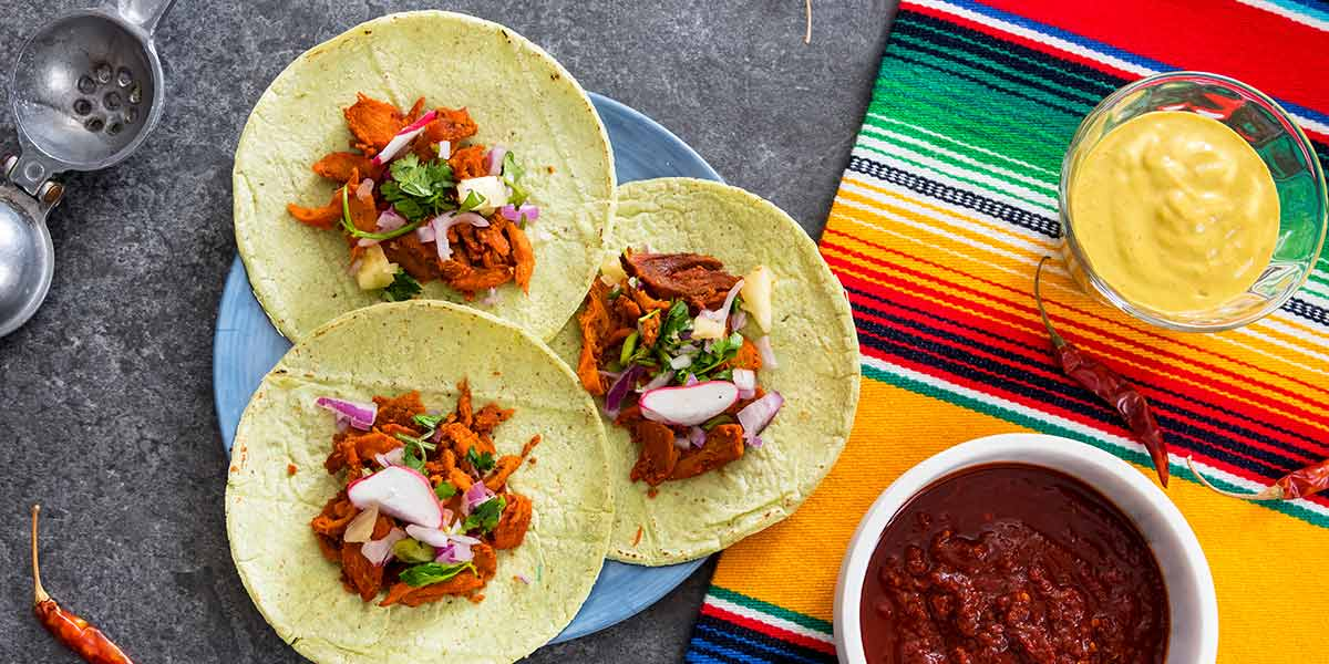 Easy-Colorful-Chicken-Pibil-Tacos-Set-On-Table