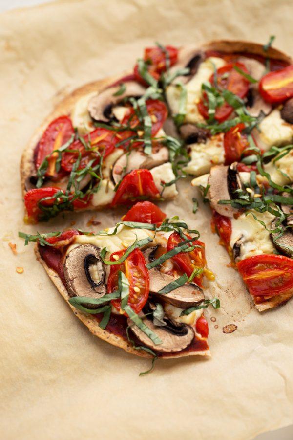Cauliflower Vegetable Pizza