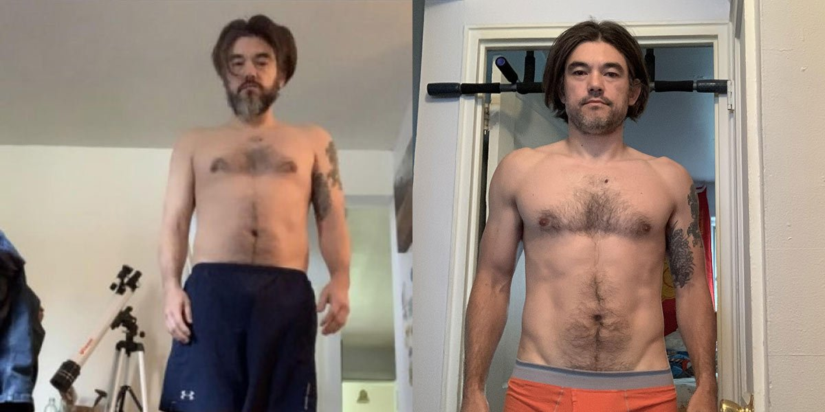 After Grave's Disease, Kevin Reclaims his Life With a Paleo Diet before and after photo