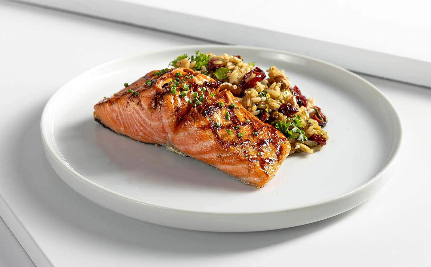 Clean Eating Meal Delivery Sustainable Salmon with Wild Rice