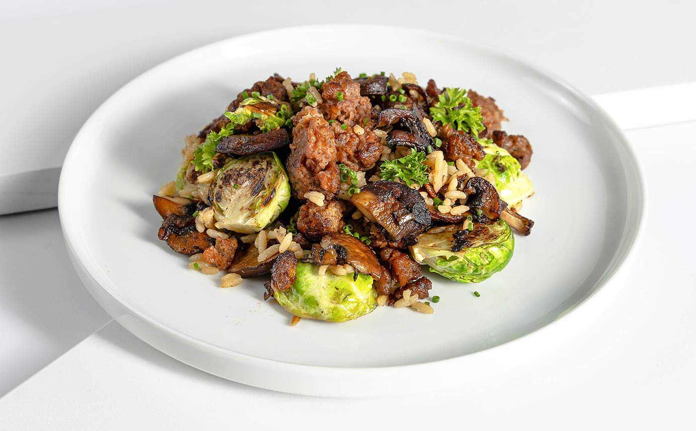 Vegetarian Meal Seared Beyond Meat™ Skillet
