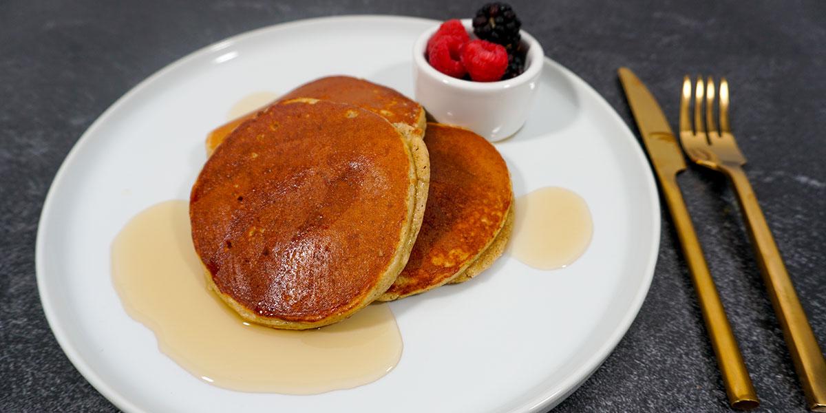 Paleo Applesauce Protein Pancakes Recipe