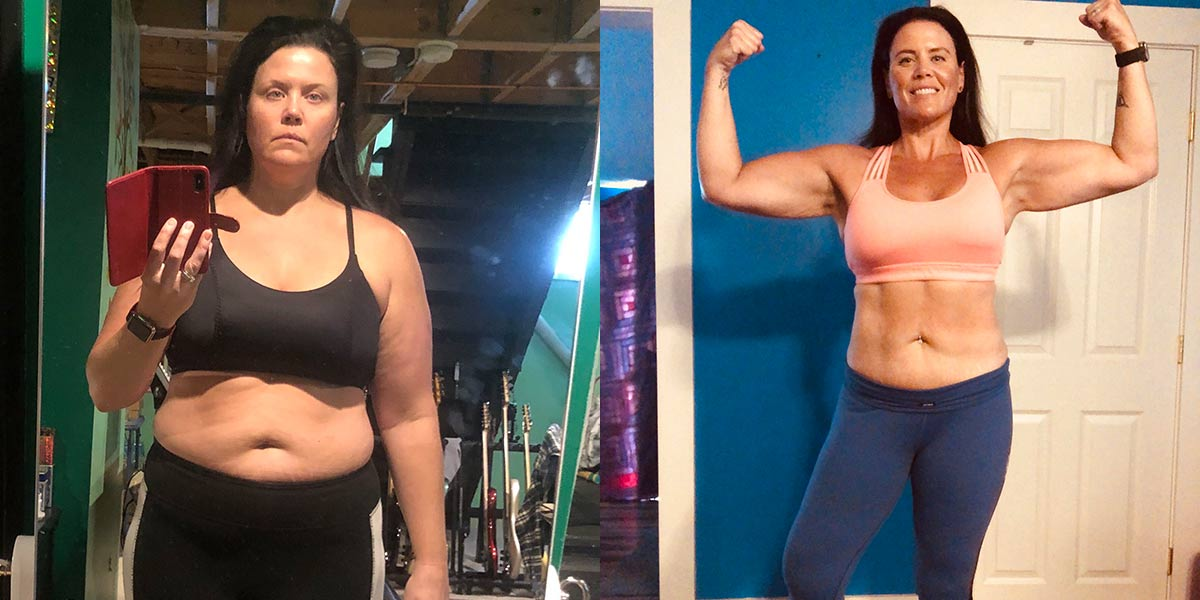 Sara S before and after fitness transformation