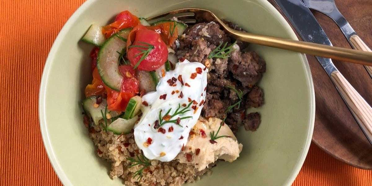 Loaded Mediterranean Beef Bowl Recipe