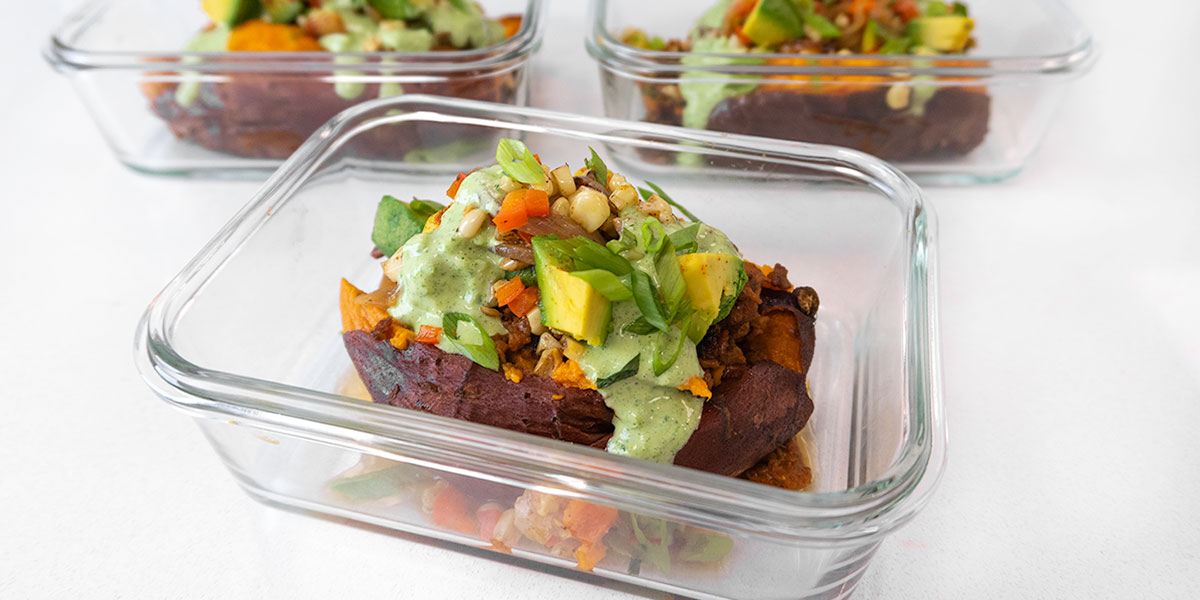 Vegan Southwest Baked Sweet Potato Recipe