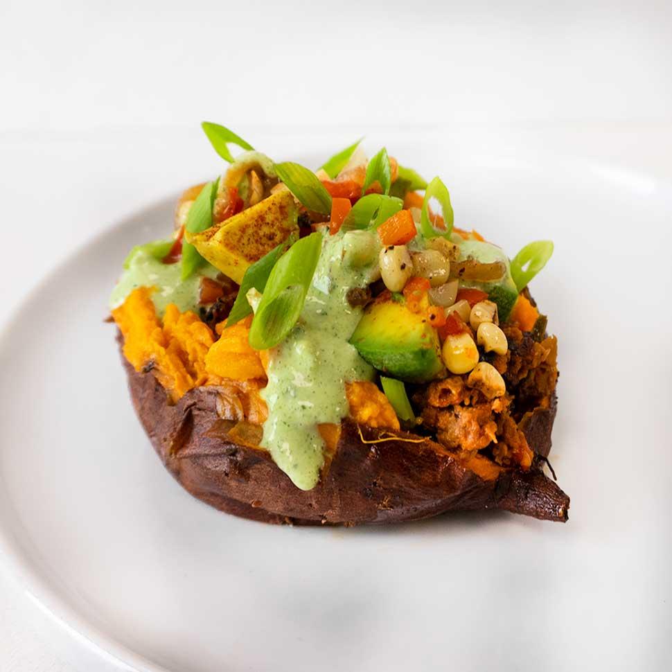 Southwest Baked Sweet Potato