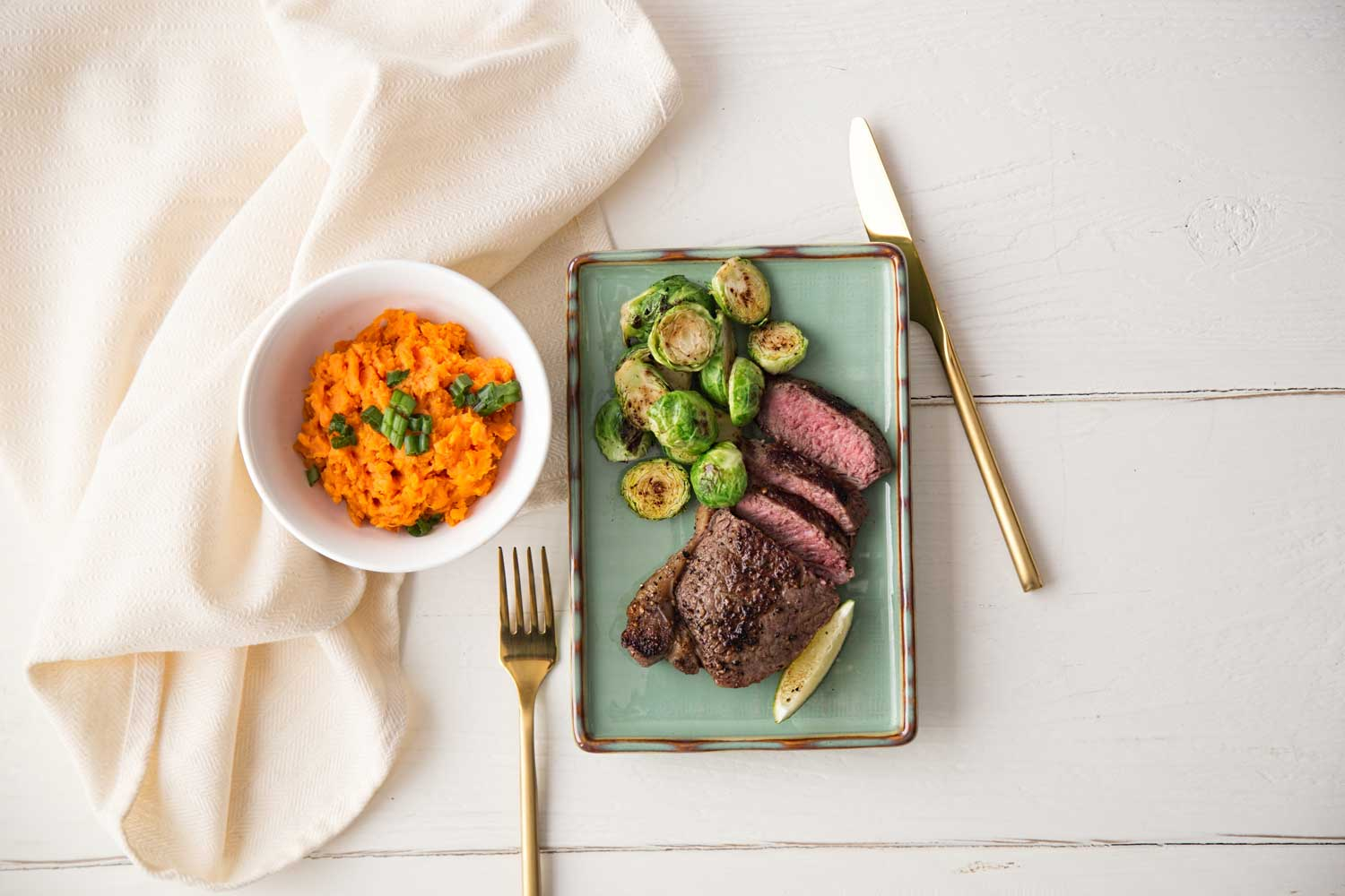 Clean eating meal plan clean eating meal steak and brussels sprouts with side forumfinder Choice Image