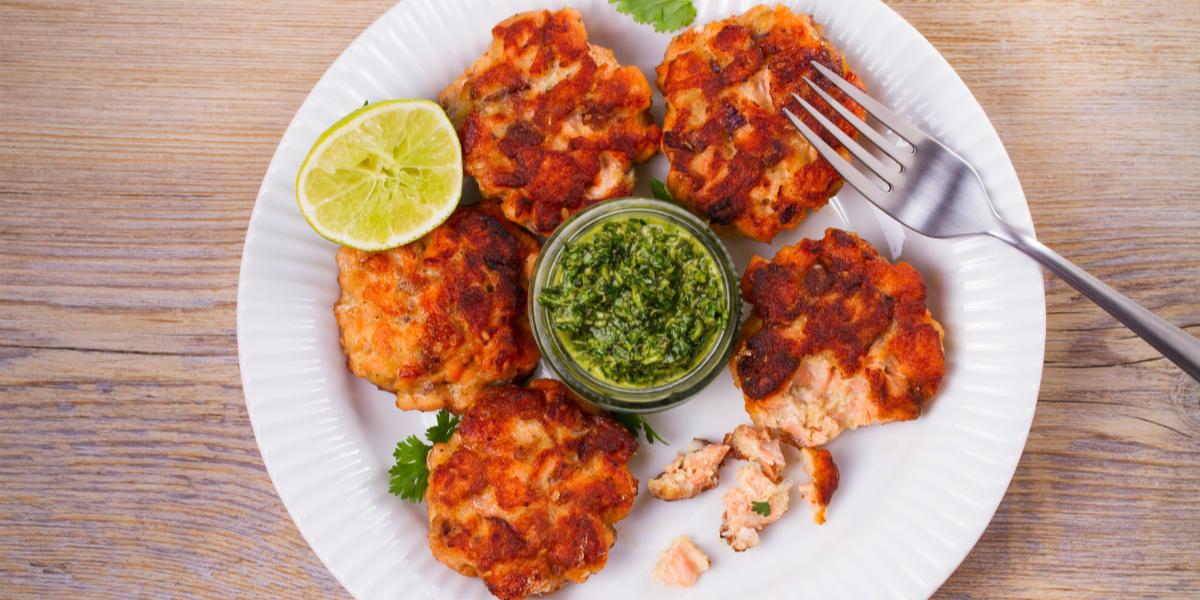 baked-salmon-cakes-recipe-chimichurri-sauce-nikki-howard-Sydney-Maler-3
