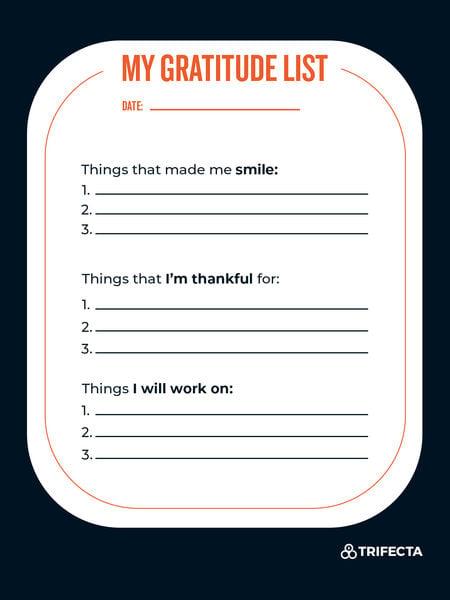 mindfulness gratitude list
