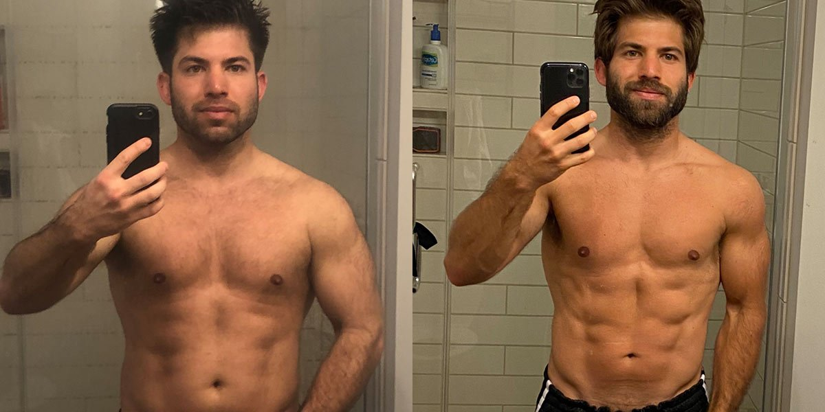 David P Before and After Diet Picture