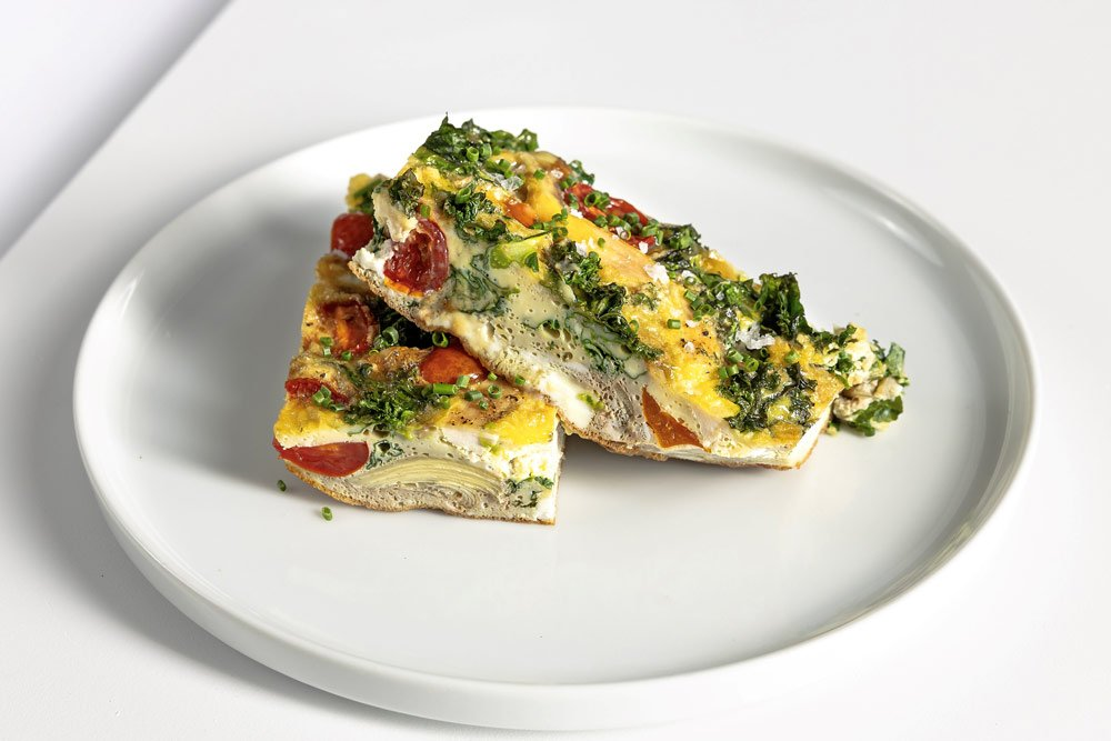 Vegetarian Meal Cage Free Egg Frittata