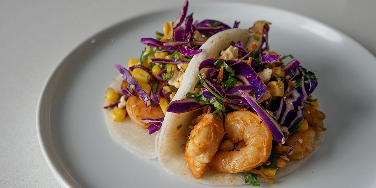 10 Minute Shrimp Tacos with Street Corn Slaw Recipe