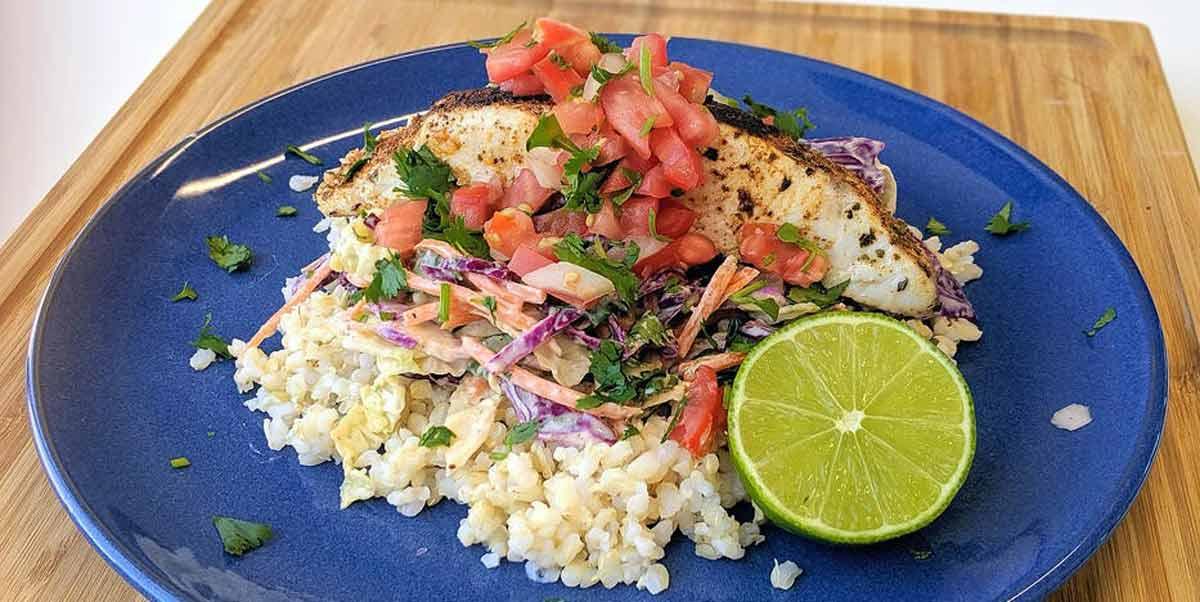 Mahi Mahi Fish Taco Bowl