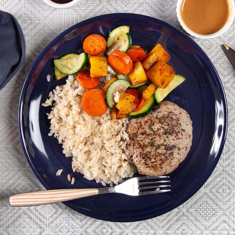 turkey-burger-rice-mixed-veggies-classic-meal-trifecta