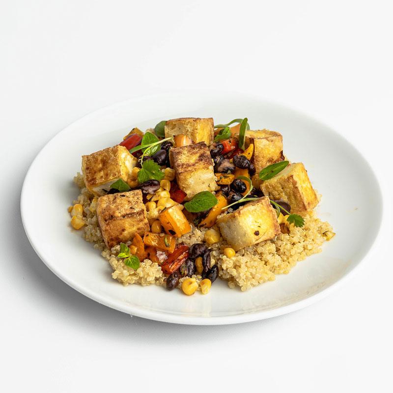 Fire Roasted Tofu and Veggie Pilaf